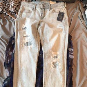 Women's Mid rise boyfriend jeans